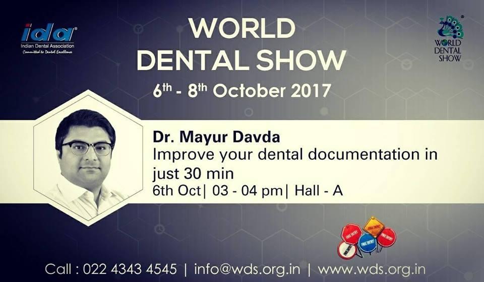 Dental photography at world dental show 2017 by Indian dental association