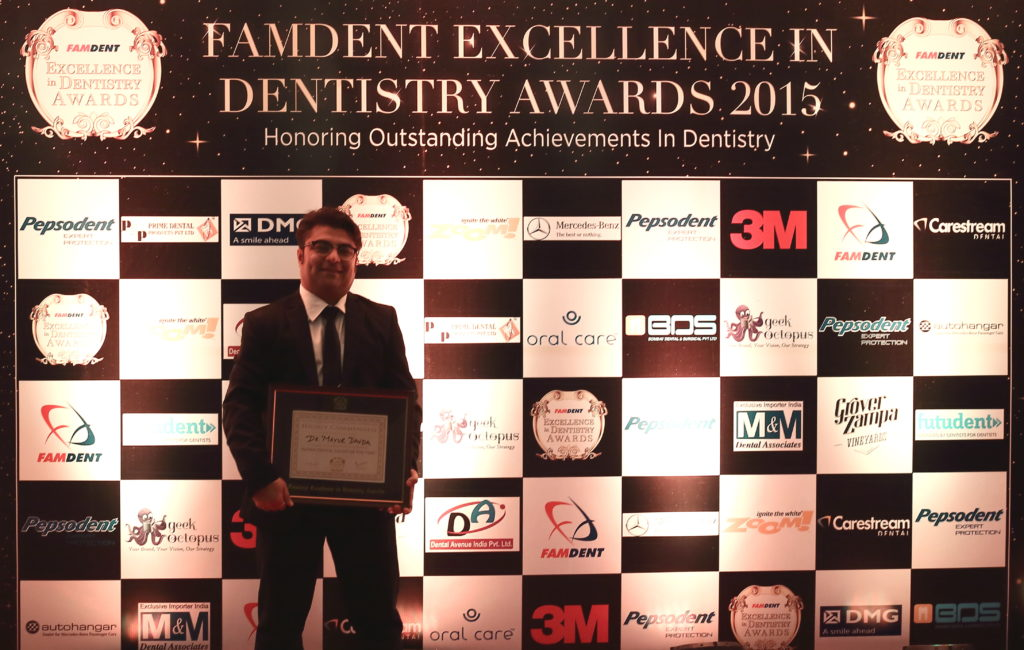Highly Commended Indian dental talent of the year at famdent awards