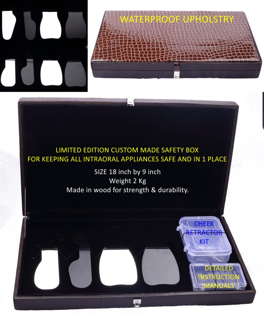 Complete Kit for clinical photography in a custom made wodden box with Premium leather feel upholstry