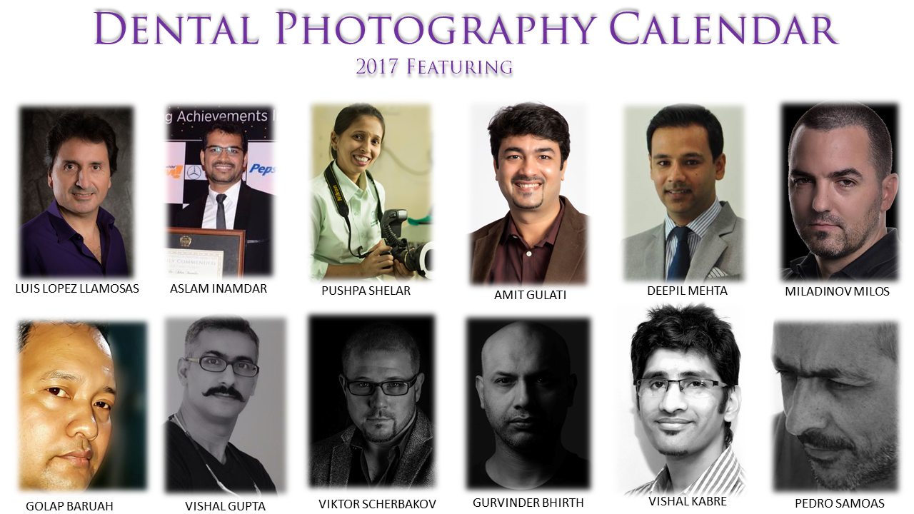 dental photography calendar 2017