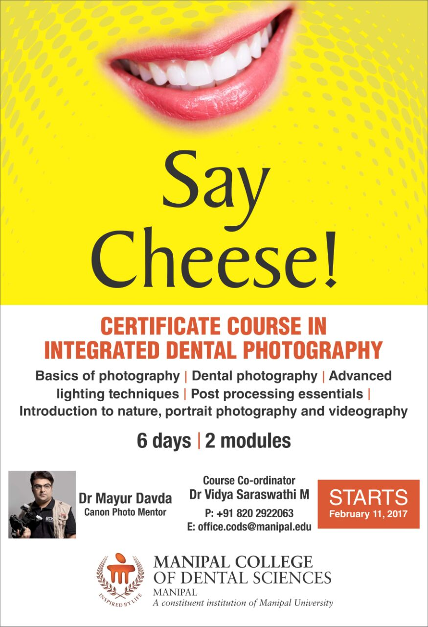 Integrated dental photography workshop at Manipal University
