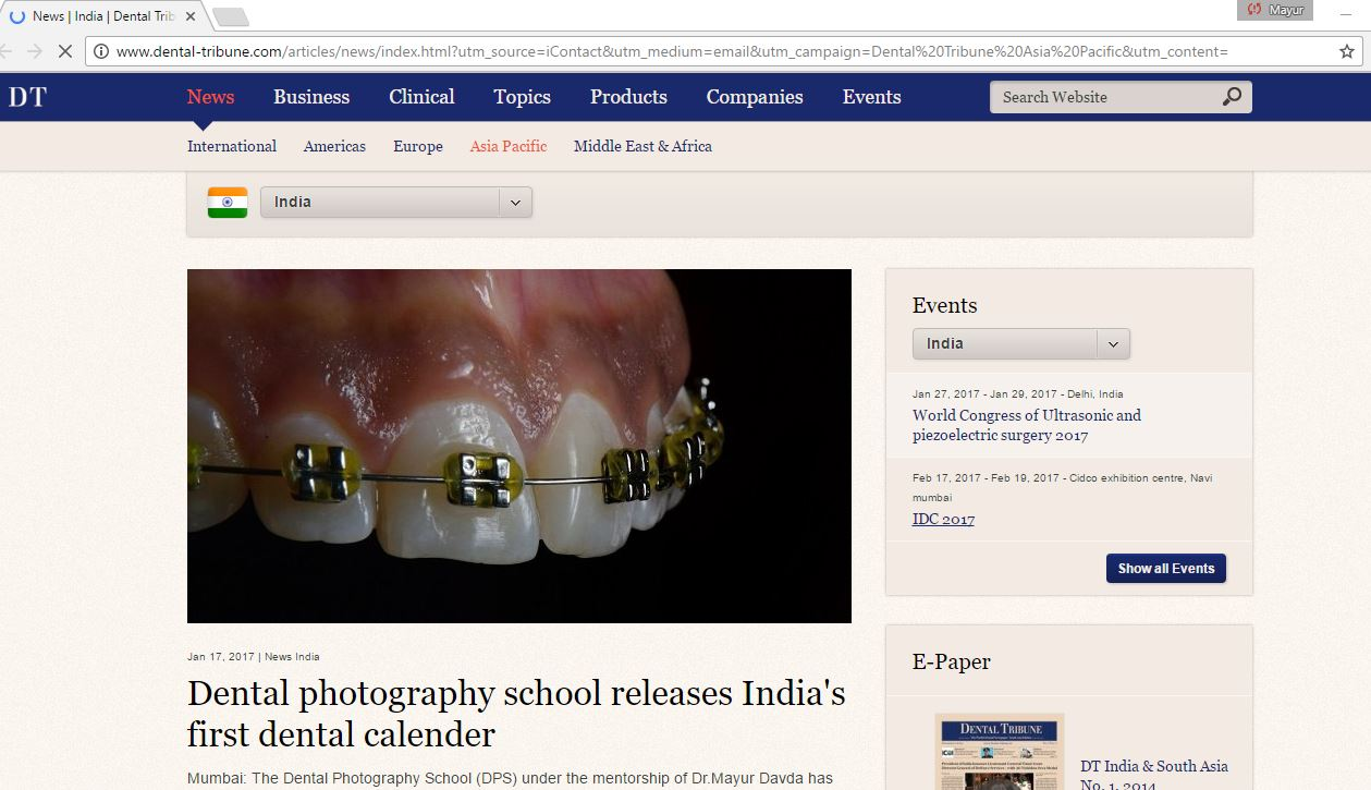 Dental Photography School making headlines