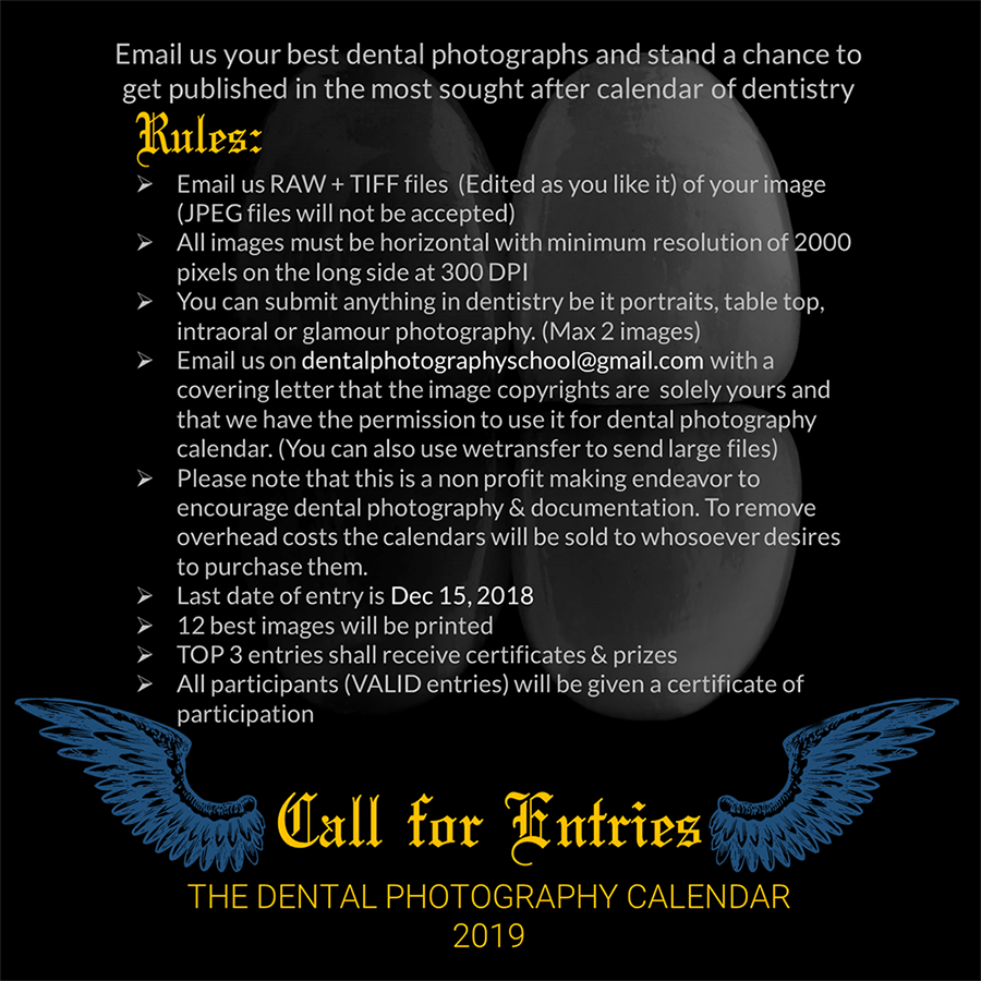 Dental photography calendar rules for participation