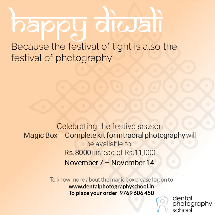 Diwali Discount on Intraoral accessories for photography